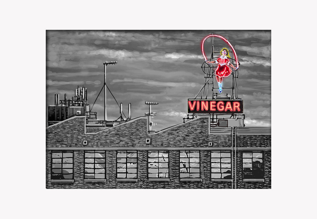 Print (Iconic) - Melbourne Skipping Girl Vinegar Landscape