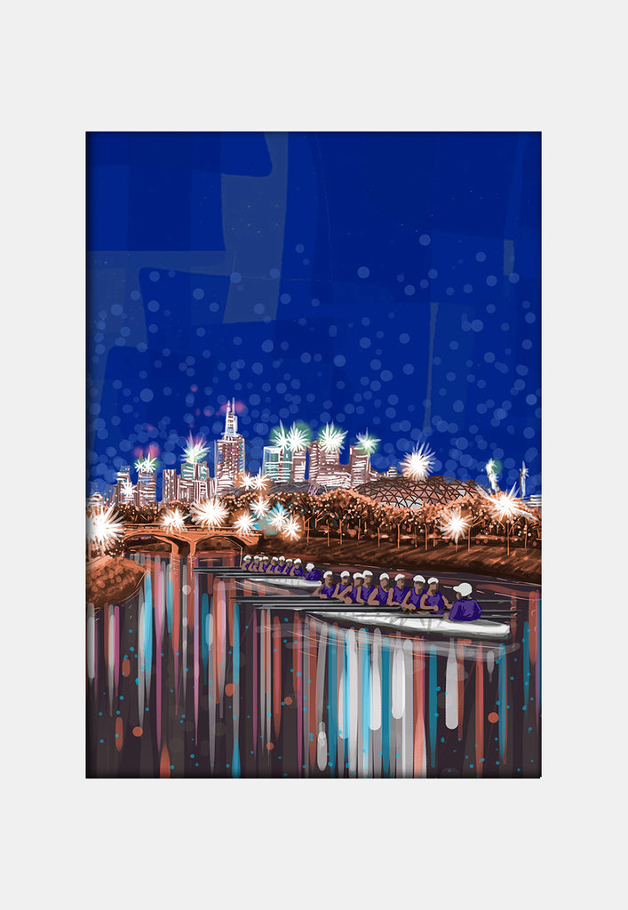 Print (Iconic) - Melbourne Yarra by Night (P)