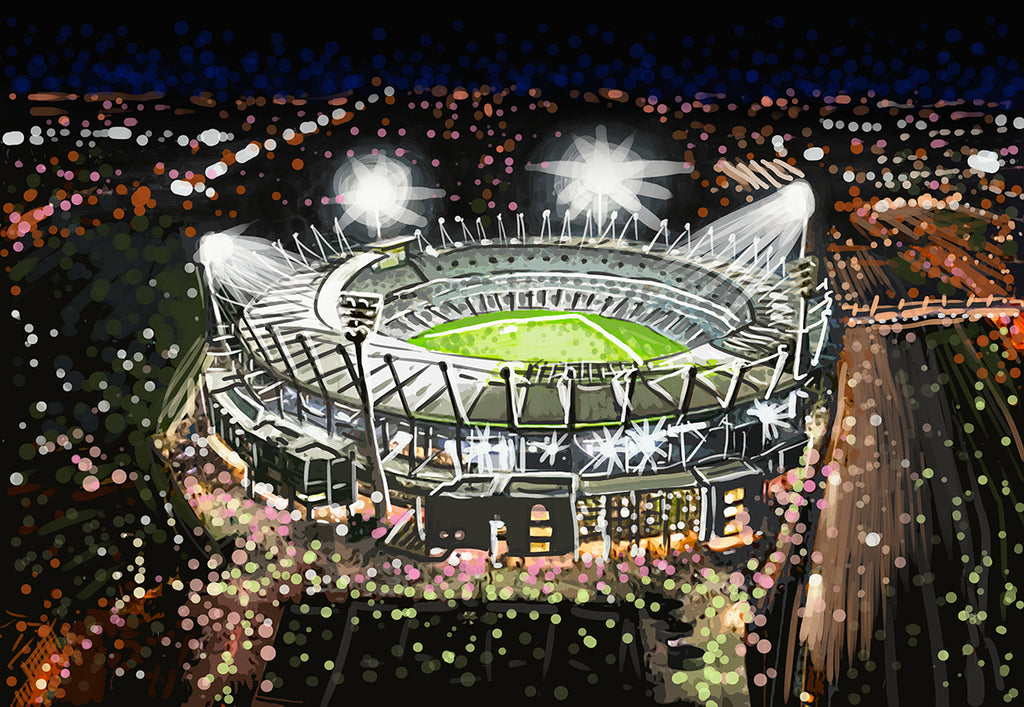 Print (Iconic) - Melbourne MCG by Night