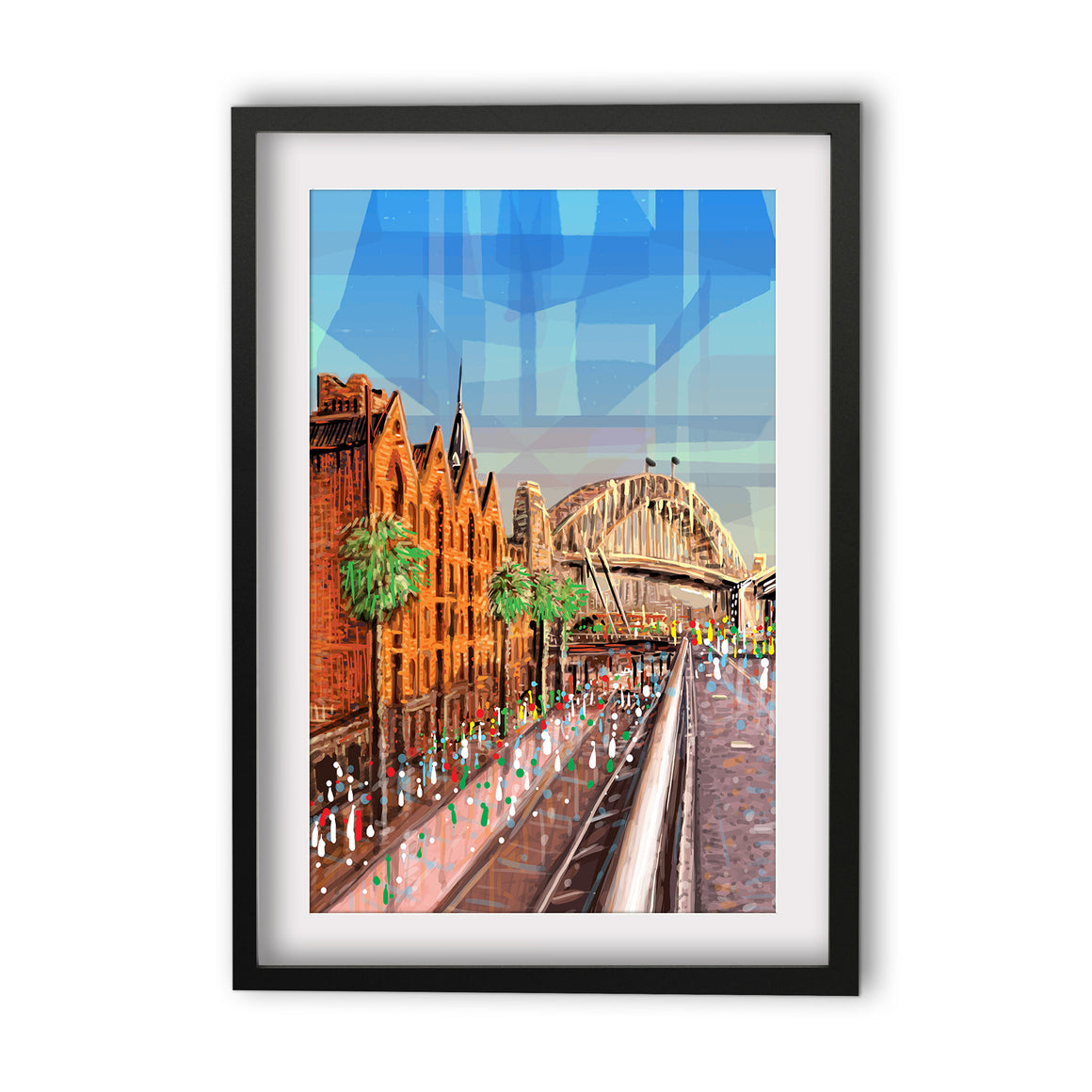 Print (Iconic) - Sydney The Rocks and Harbour Bridge