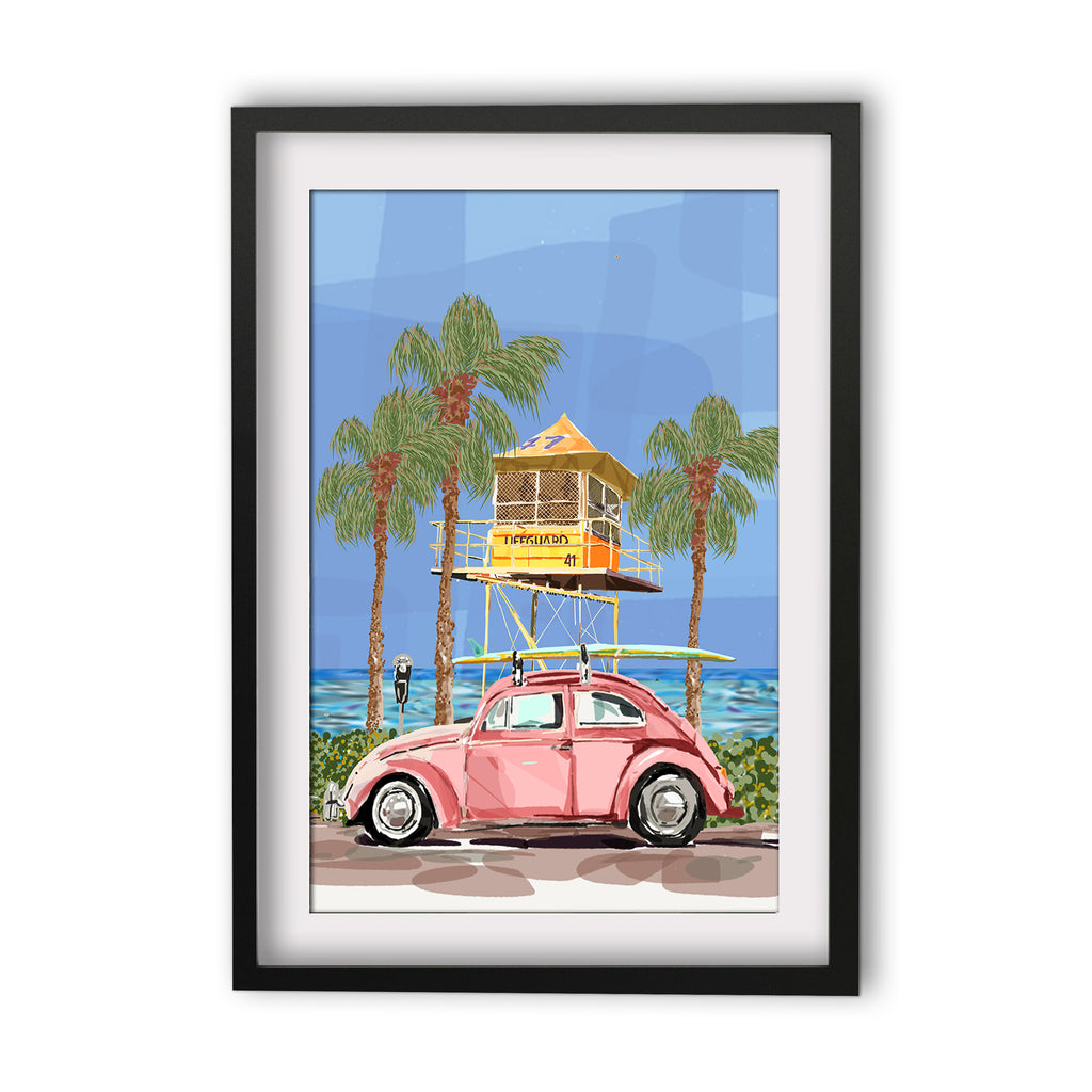 Print (Iconic) - Coastal Surf Tower with Buggy