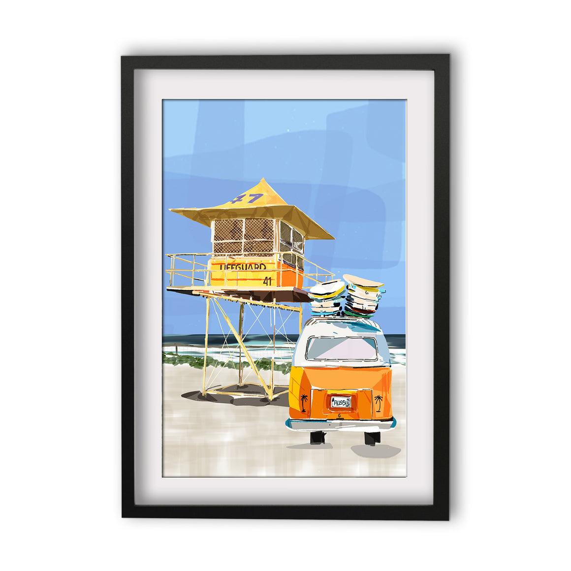 Print (Iconic) - Coastal Surf Tower with Combi