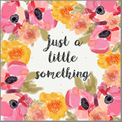 Small Cards (Pack of 10) - Just A Little Something Blooms Pink and Orange