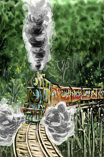 Tea Towel - Melbourne Puffing Billy