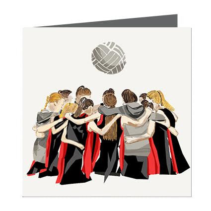 Card - Sports - Netball Black and Red