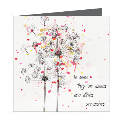Card - Quote - Wish flower