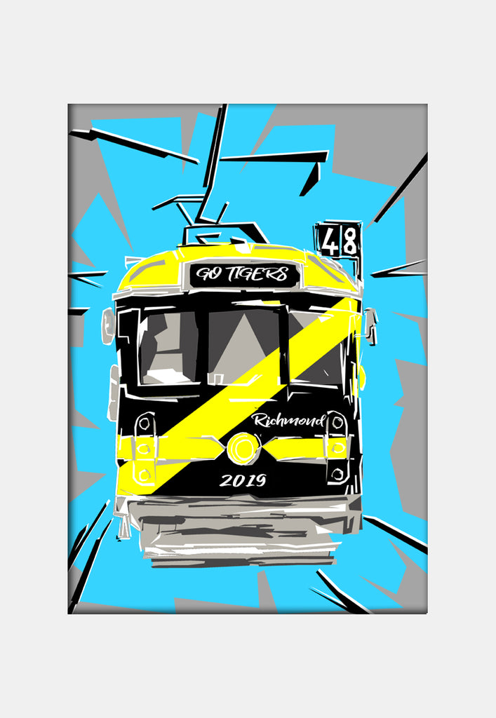 Print Football AFL - Richmond Tram