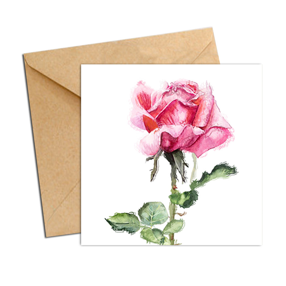 Card - Botanical Rose Pink