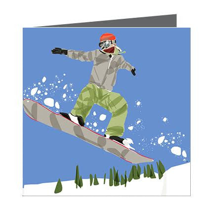 Card - Sports - Snowboarder