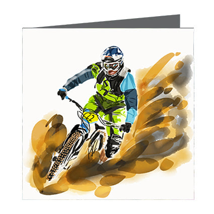 Card - Sports - Bike in Mud