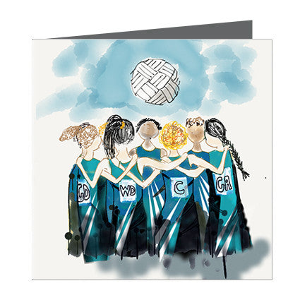 Card - Sports - Netball Girls Team blue