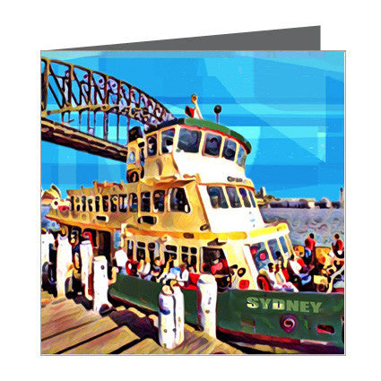 Card - Iconic Sydney - Ferry