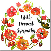 Small Cards (Pack of 10) - Sympathy Poppies Ring