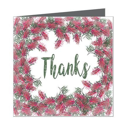 Card - Thank you Bottle Brush