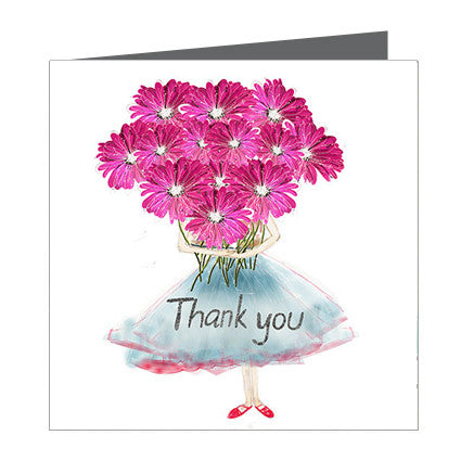 Card - Thanks a Bunch of Gerbras, Greeting Card