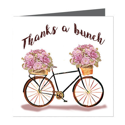 Card - Thanks a Bunch Bike with posies