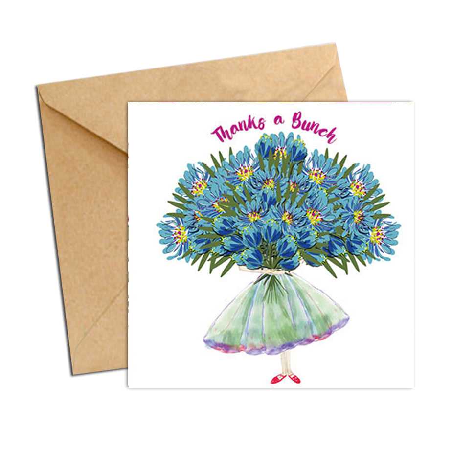 Card - Thanks a bunch of Blue Blooms