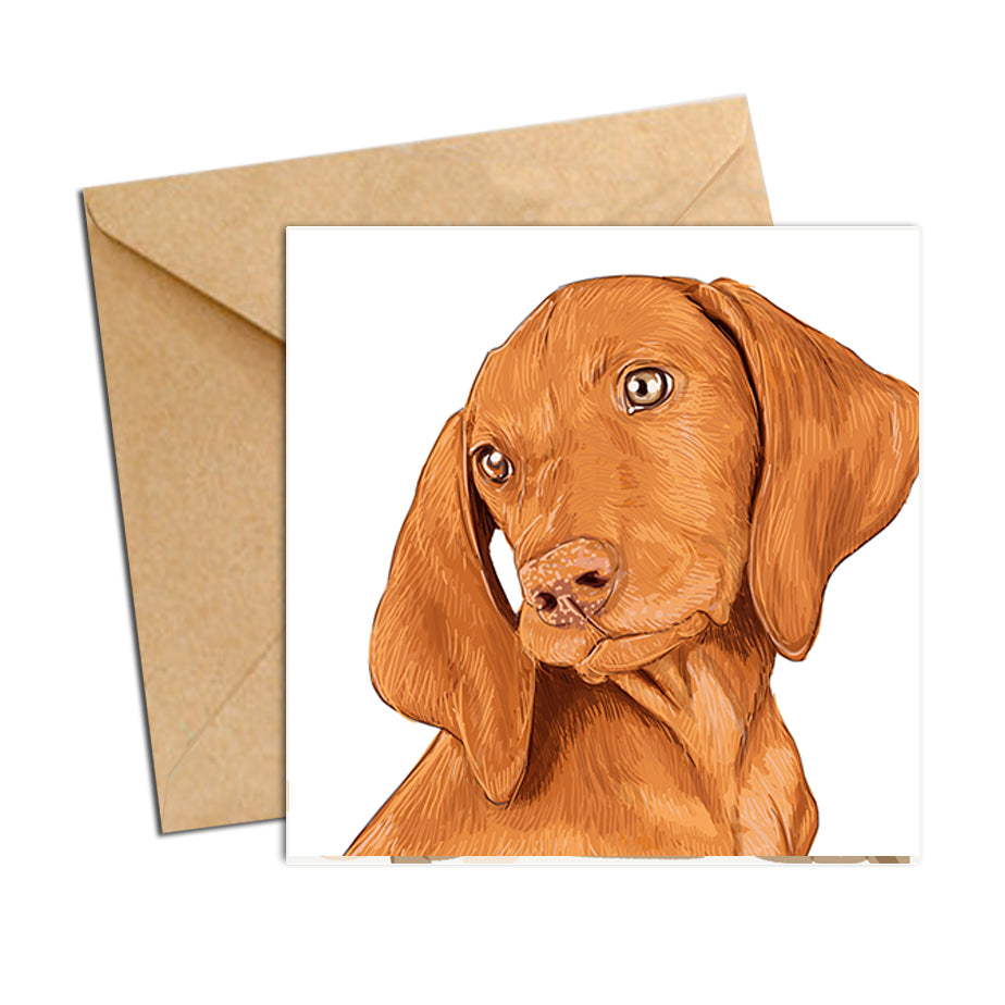 Card - Dog Vizsla