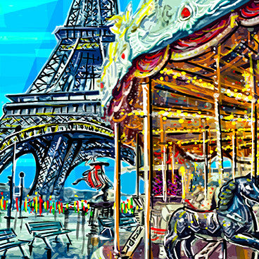 Card - Iconic - Paris Carousel