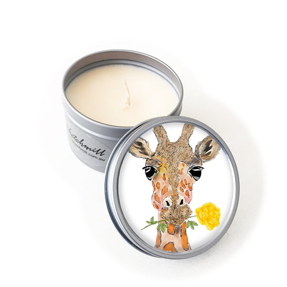 Candle - Animal Giraffe with Rose