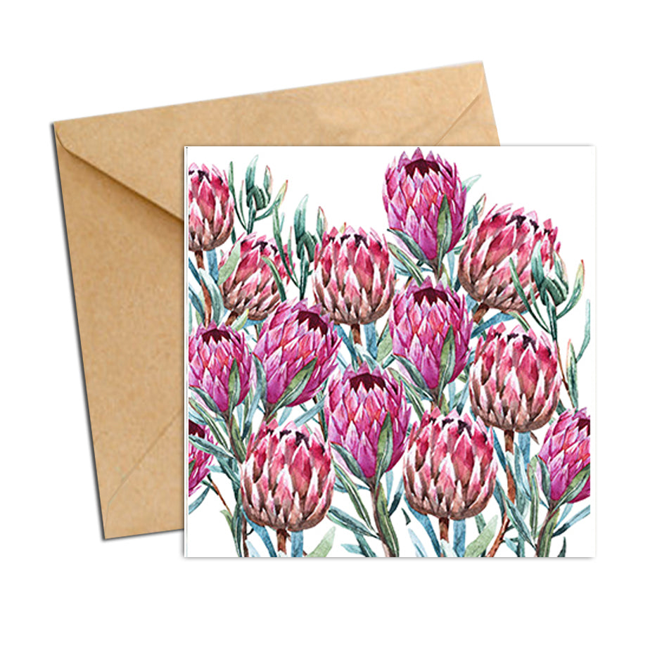Card - Botanical Natives Proteas