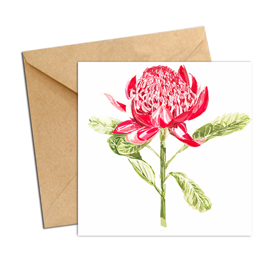 Card - Botanical Natives Waratah