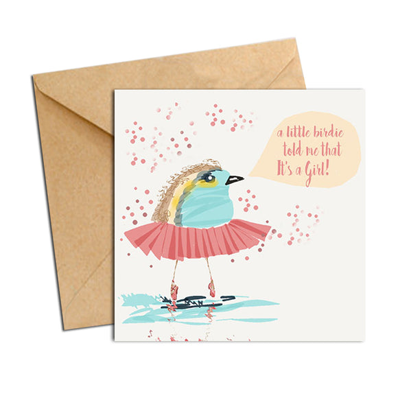 Card - Baby Girl Little Birdie