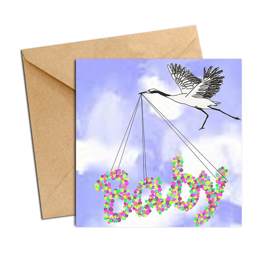 Card - Baby and Crane