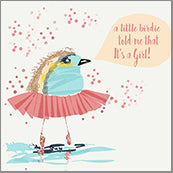Small Cards (Pack of 10) - Baby Girl Birdie