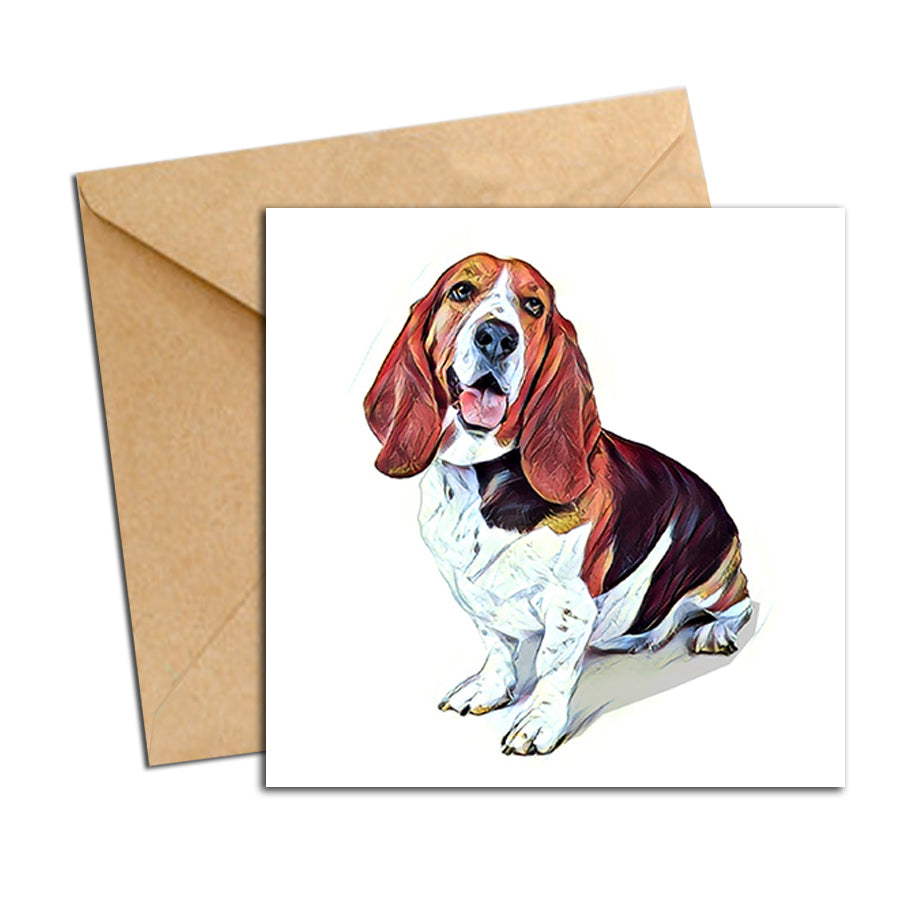 Card - Dog Basset Hound