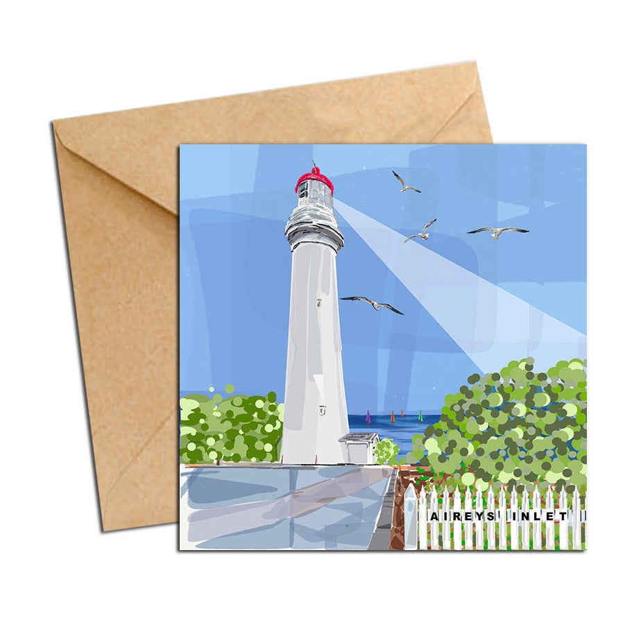 Card - Iconic Bellarine - Airey's Inlet Lighthouse