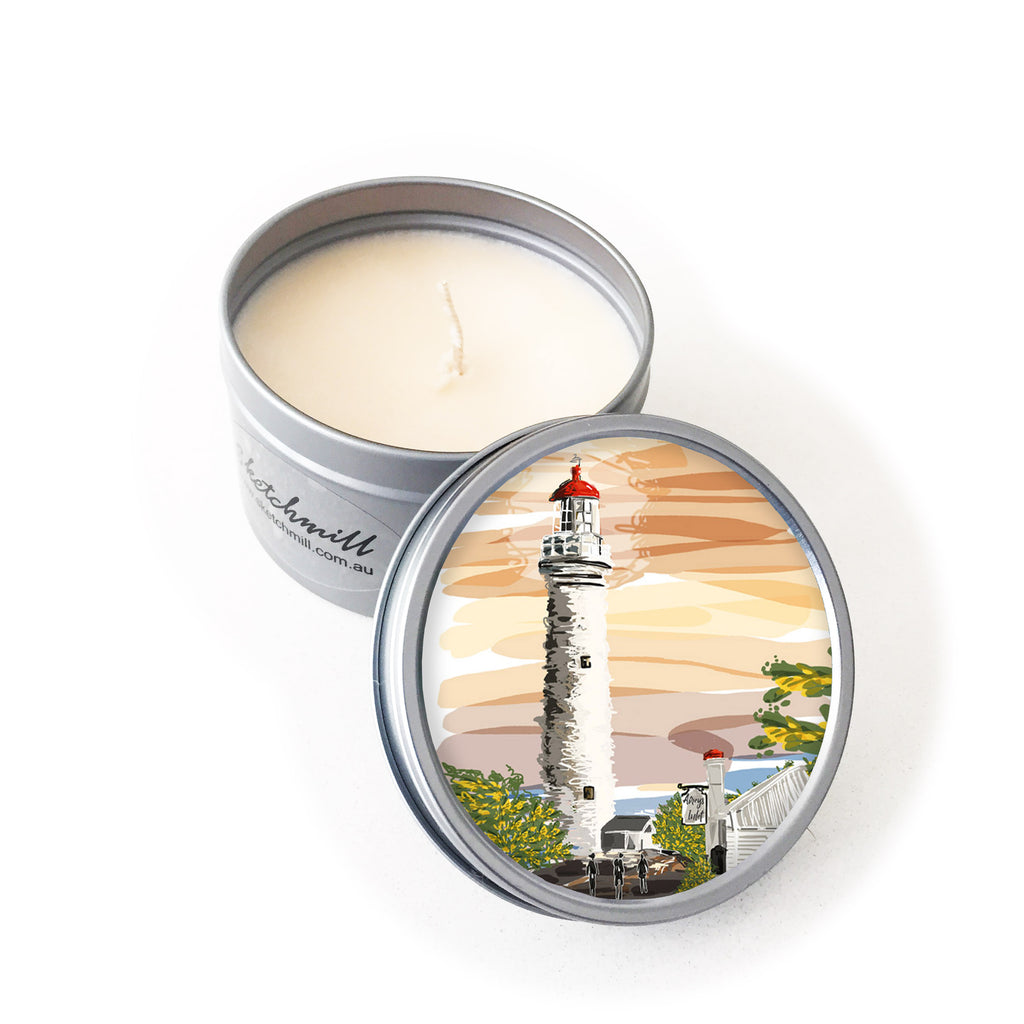 Candle - Iconic Bellarine: Aireys Inlet Lighthouse Sunset