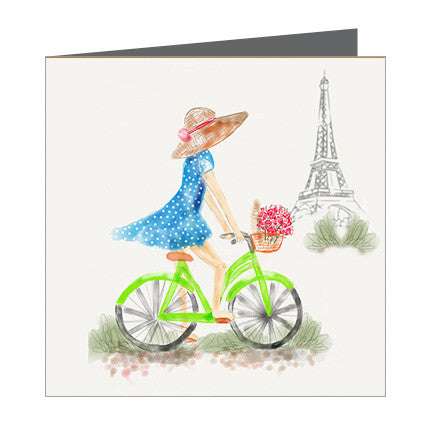 Card - Lets go somewhere - Bike in Paris