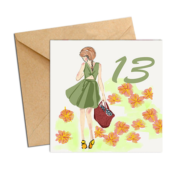 Card - Birthday Age 13