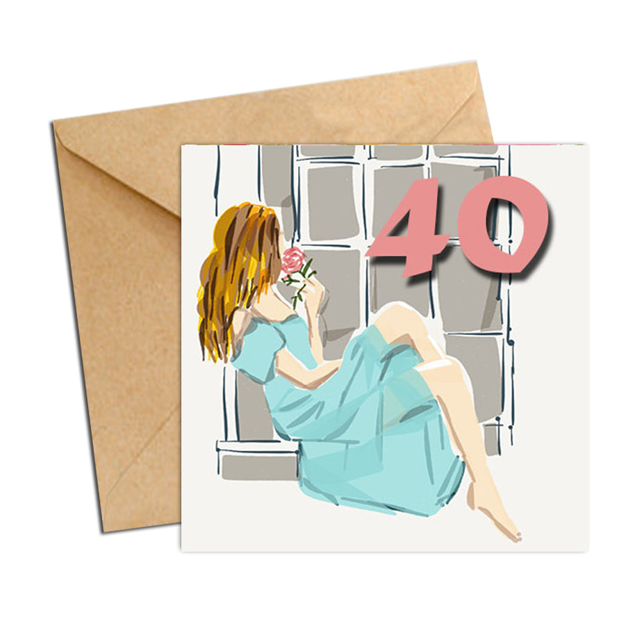 Card - Birthday Age 40