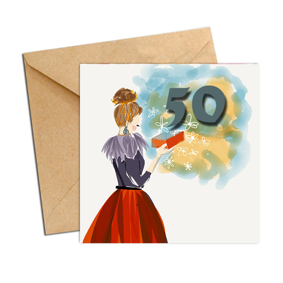 Card - Birthday Age 50