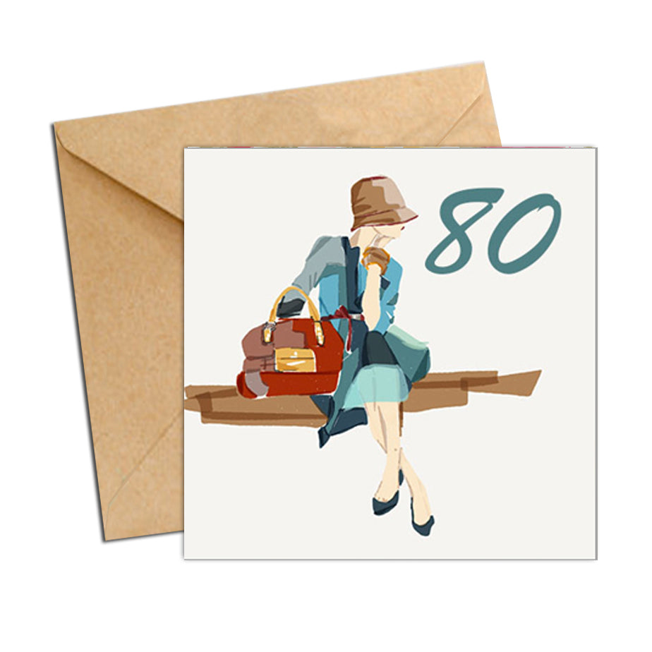Card - Birthday Age 80