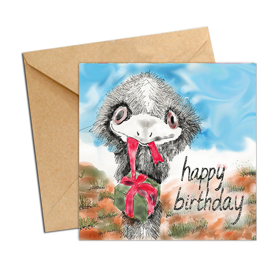 Card - Birthday Aus Animal Emu