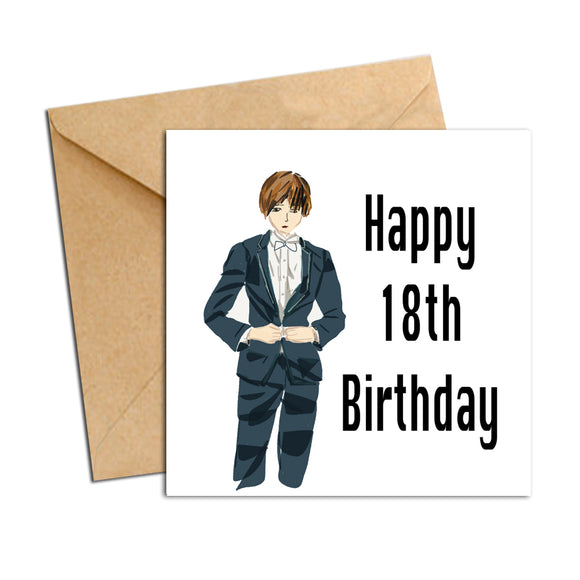Card - Birthday male 18