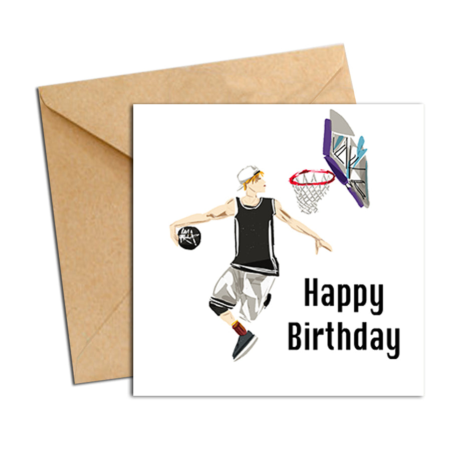 Card - Birthday male Basketball