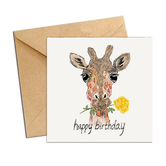 Card - Birthday Giraffe
