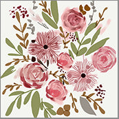Small Cards (Pack of 10) - Blooms Pink