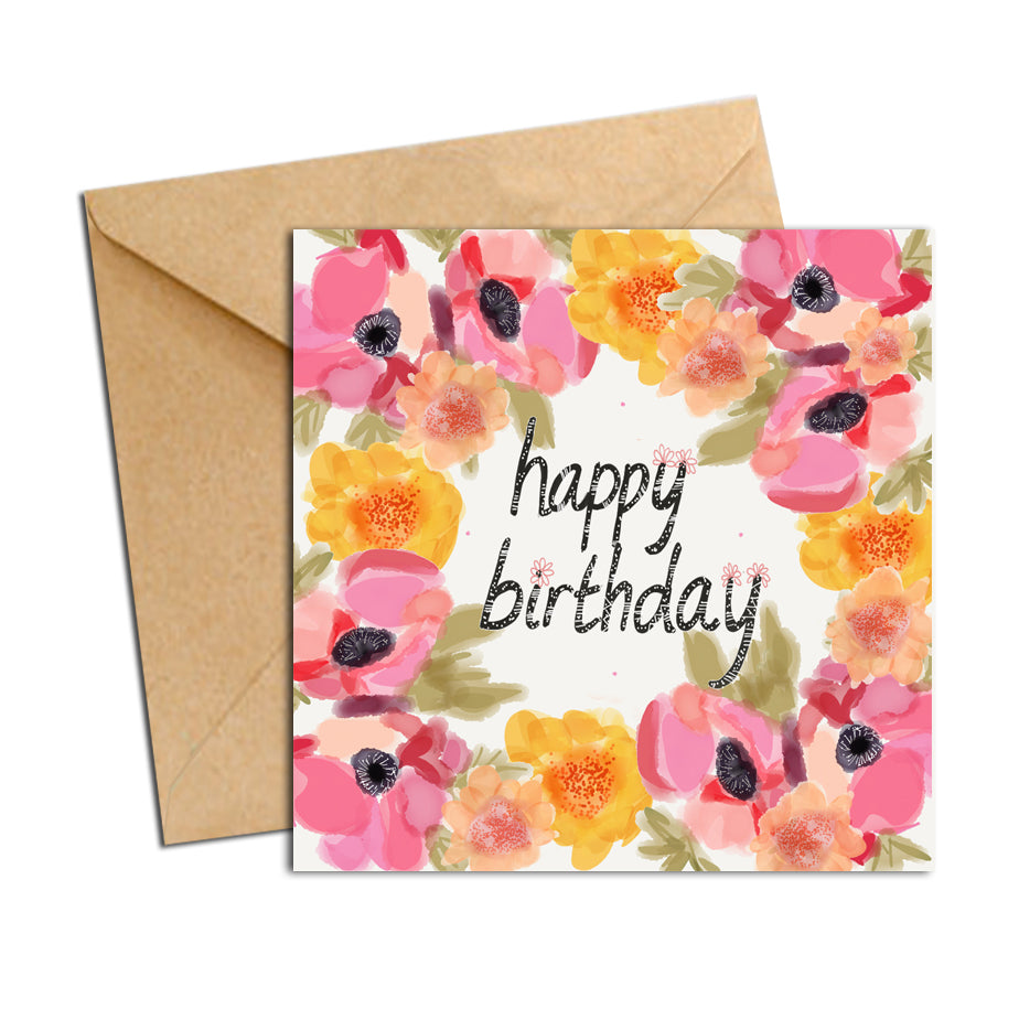Card - Blooms - Birthday