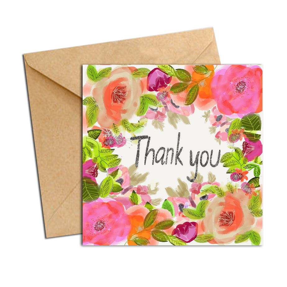 Card - Blooms - Thank You