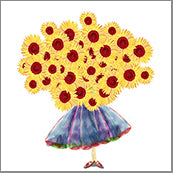 Small Cards (Pack of 10) - Bunch of Sunflower