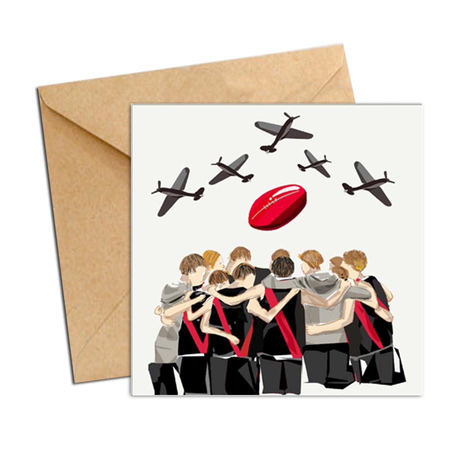 Card - AFL  - Football bombers