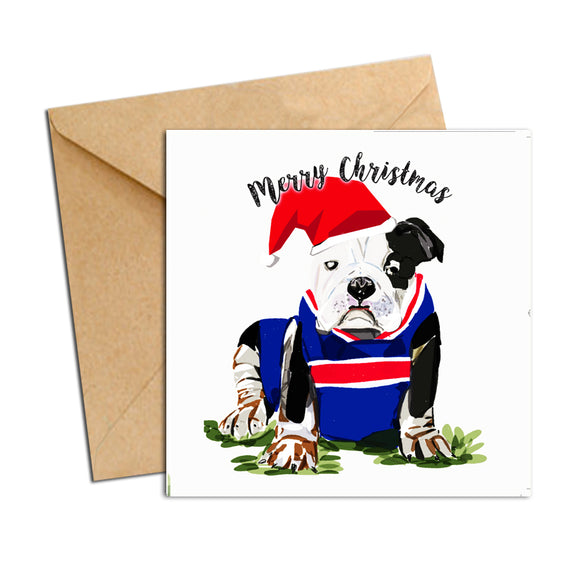 Card - Xmas Footy Bulldog
