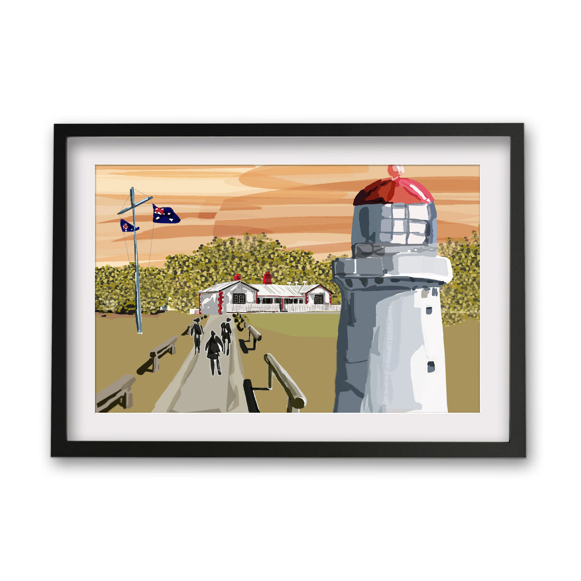 Print (Iconic) - Coastal Cape Schanck Lighthouse Sunset, Mornighton Peninsula