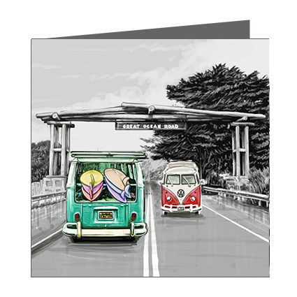 Card - Iconic Bellarine and Surf Coast - Great Ocean Road Portal with Combi