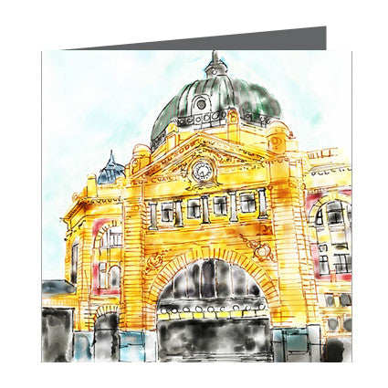 Card - Iconic Melbourne Flinders Street Station v1